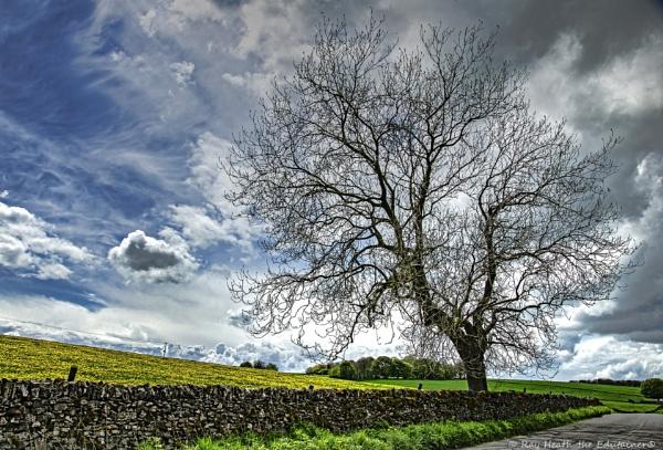 Stormy Spring sky near Youlgreave - Derbyshire by RayHeath