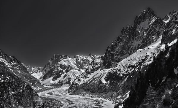 The Argentiere Glacier by Xandru