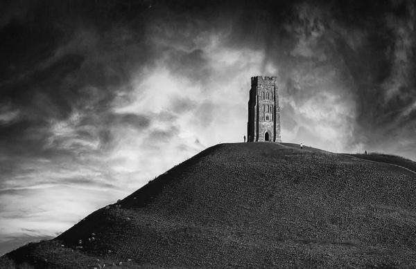 Mystical Glastonbury Tor by Ffynnoncadno