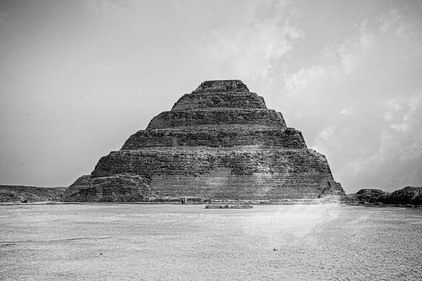 View to the pyramid of Djoser by rninov