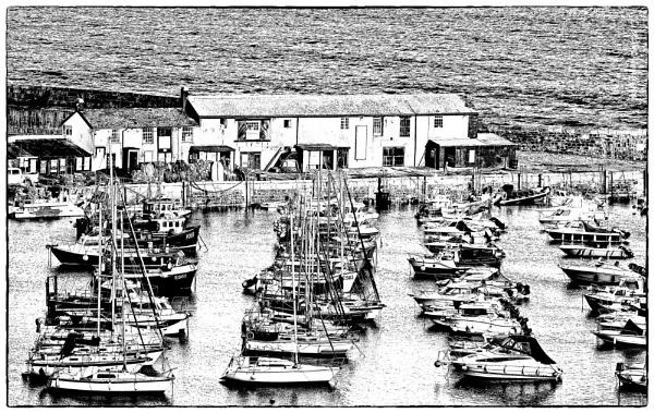Lyme\'s Harbour & Cobb Buildings by starckimages
