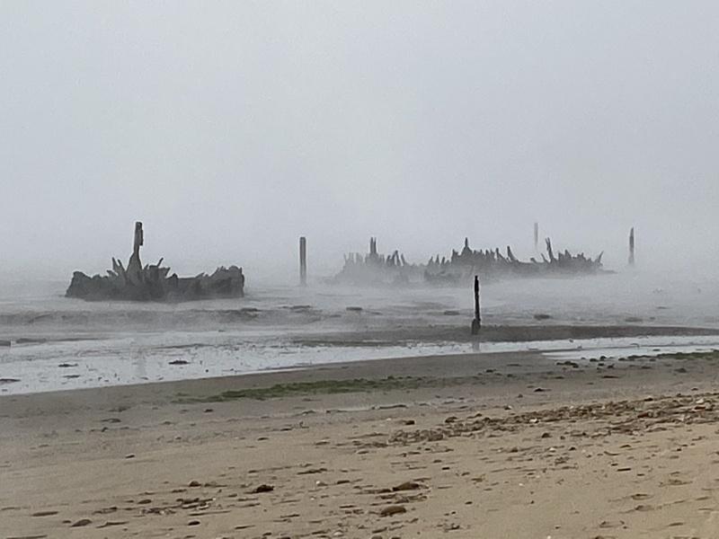 Old boat wrecks Amble estuary