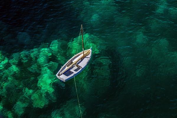 A White Boat by Xandru