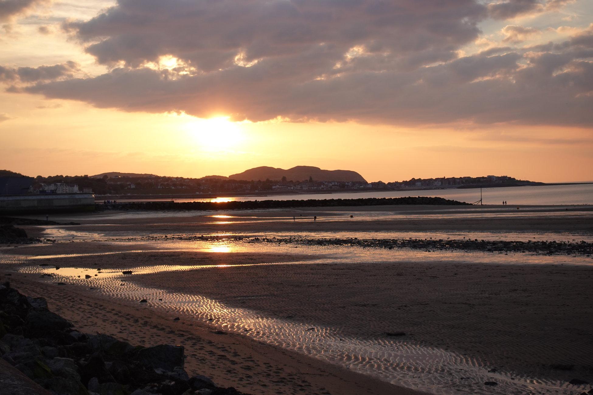 Setting Sun in Colwyn bay
