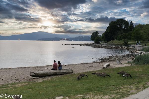 Lovers at English Bay... by Swarnadip