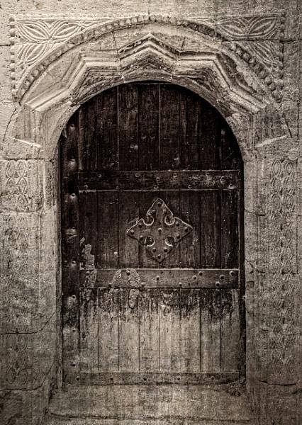Wooden door in old city (medina) of Cairo by rninov