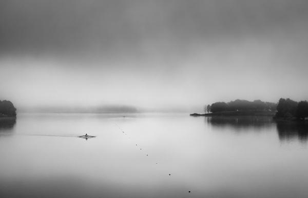 The Rowers, Lake Tuggeranong by BobinAus