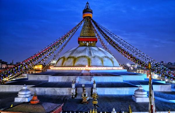 Boudhanath Stupa in Kathmandu Nepal by sawsengee