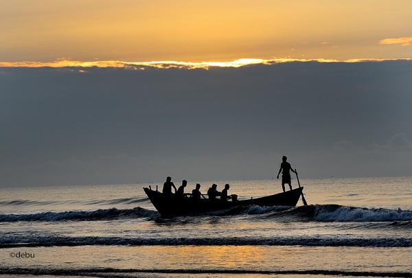 Sea Beach Sunrise(18) by debu