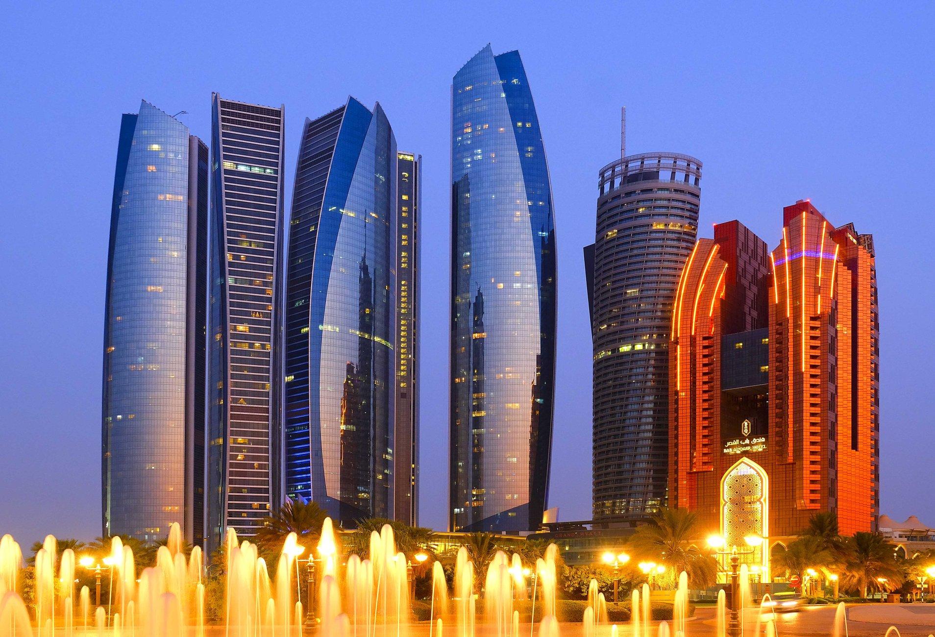 Abu Dhabi city during blue hour
