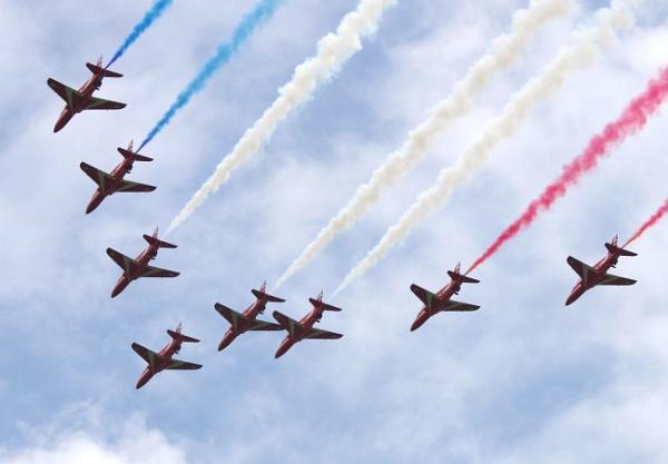 Red Arrows 2021 Flypast by Kako