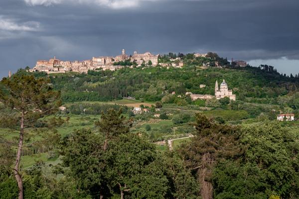 MONTEPULCIANO, TUSCANY, ITALY - MAY 19 : Countryside near Monteppulciano in Tuscany on May 19, 2013 by Phil_Bird