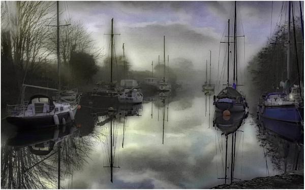 Misty Mooring by dven