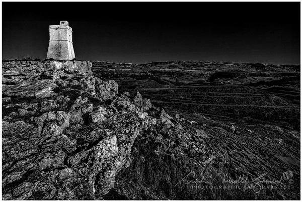 Coastal Watch Tower by Kemmuna