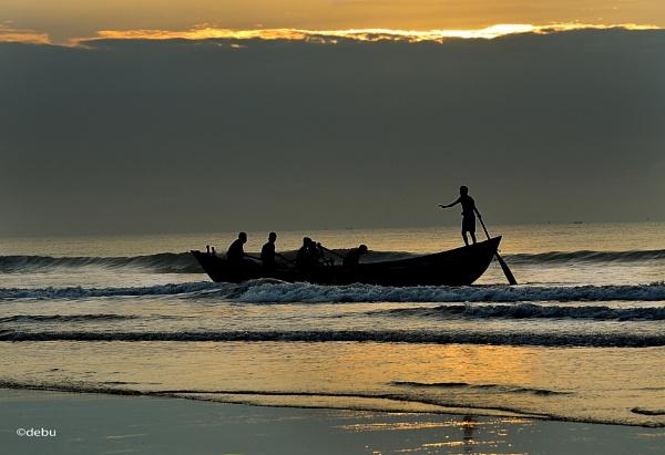 Sea Beach Sunrise(29) by debu
