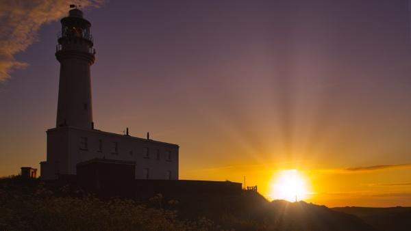 Lighthouse & Sun 2 by Alan_Baseley