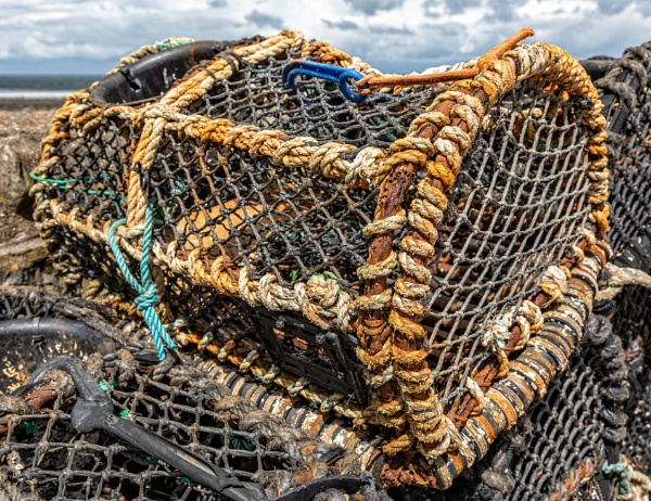 Lobster Pots on Lynmouth Quay by DicksPics