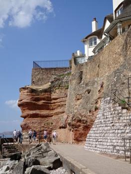 Sidmouth sandstone rocks