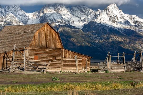 JACKSON, WYOMING, USA - OCTOBER 1 : View of Moulton barn at Mormon Row near Jackson Wyoming on October 1, 2013 by Phil_Bird