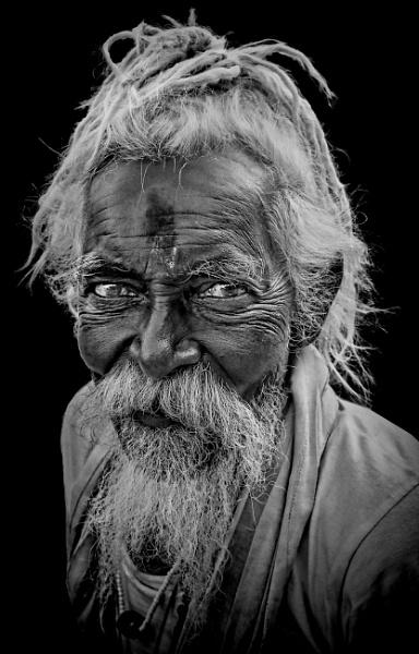 wandering pilgrim in Haridwar by sawsengee
