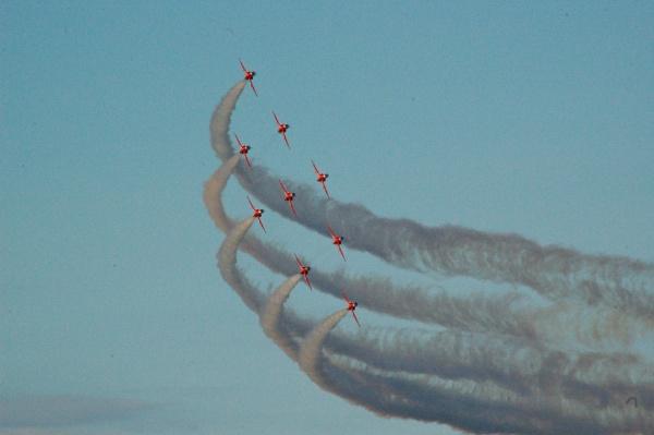 Red Arrows over Isle of Man by GPWalker