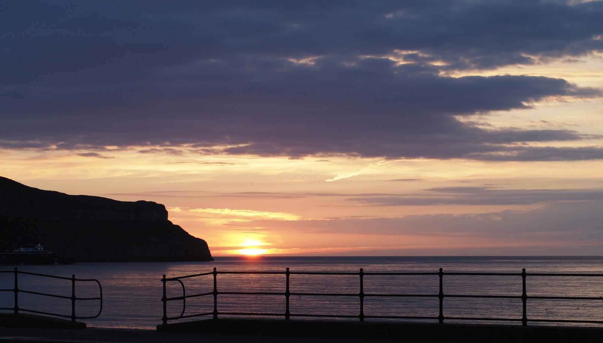 Sunset, Llandudno, Gogledd Cymru
