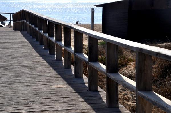 Shadows on the bridge... by Chinga