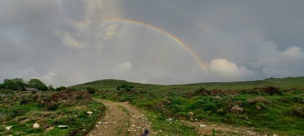 Rainbow over the Preseli Hills by woodini254