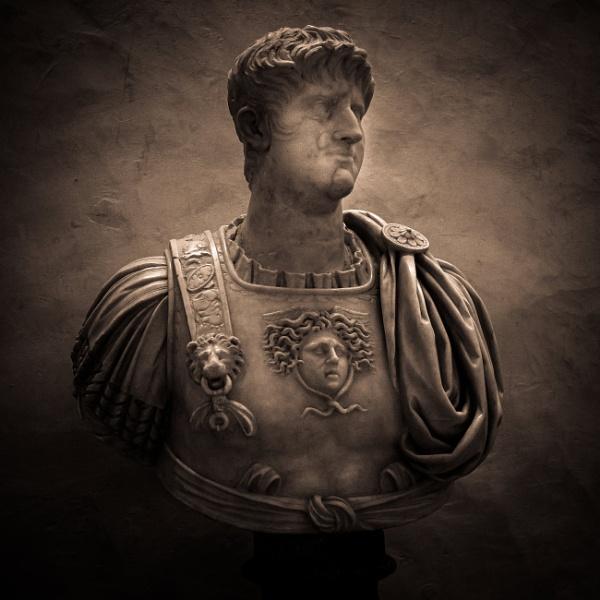 Stone bust in Uffizi museum, Florence by rninov