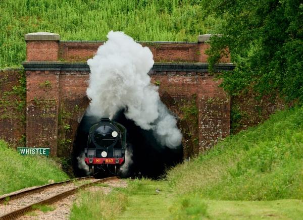 Emerging From Sharpthorne Tunnel by JJGEE