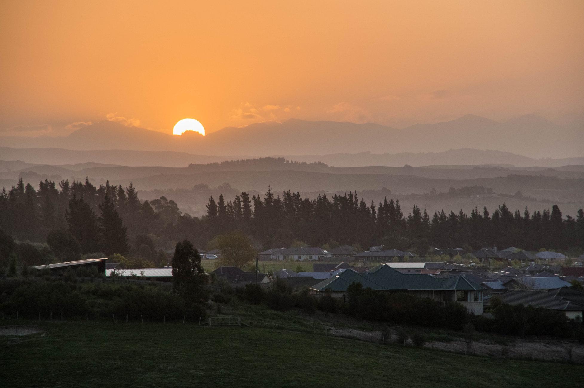Blenheim sunset New Zealand