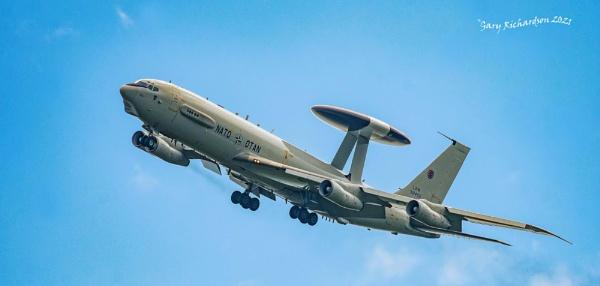 boeing E-3A sentry by djgaryrichardson