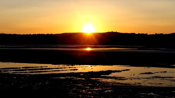 Purton Hulks Sunset by eyelevelphotographyuk