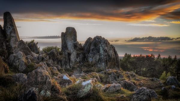Charnwood Evening Rocks by JelFish