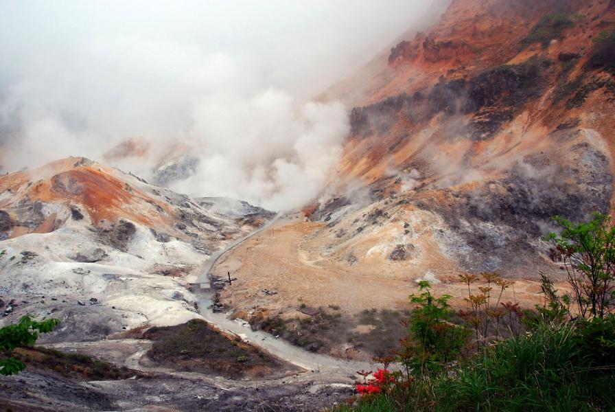 Jigokudani Hell Valley in Hokkaido, Japan