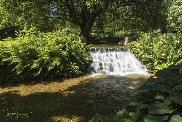 Waterfall Mottisfont Abbey Gardens and house by IainHamer