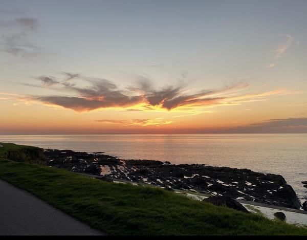 Sunset at Westward Ho. by Granddad