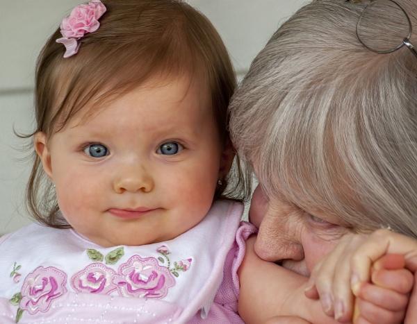 Gianna with grandma Becky by jbsaladino