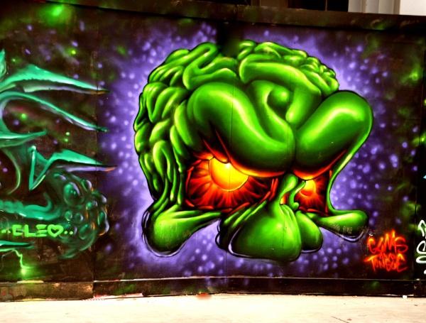 Strange wall art !! by Chinga