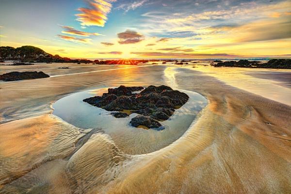 Rock Pool Sunrise by capturingthelight