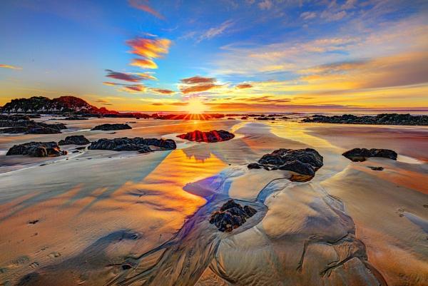 Sunrise at the Beach by capturingthelight