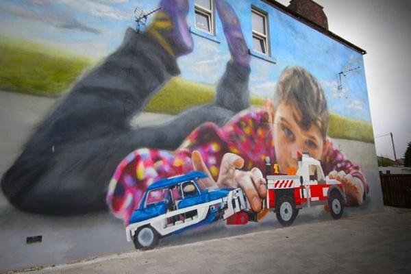 Cowdenbeath mural by Eckyboy