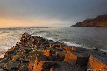 Sun lit rocks