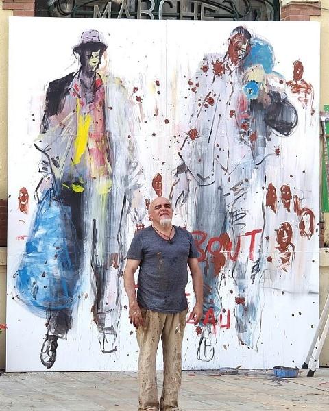 superb live work of art, painter paul Bloas by jeakmalt