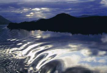 Inside Passage moonlight cruising.  Alaska