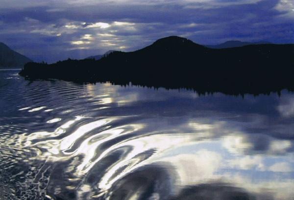 Inside Passage moonlight cruising.  Alaska by Don20