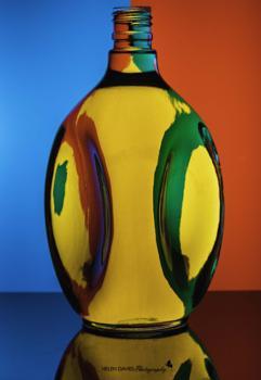 Multicoloured bottle