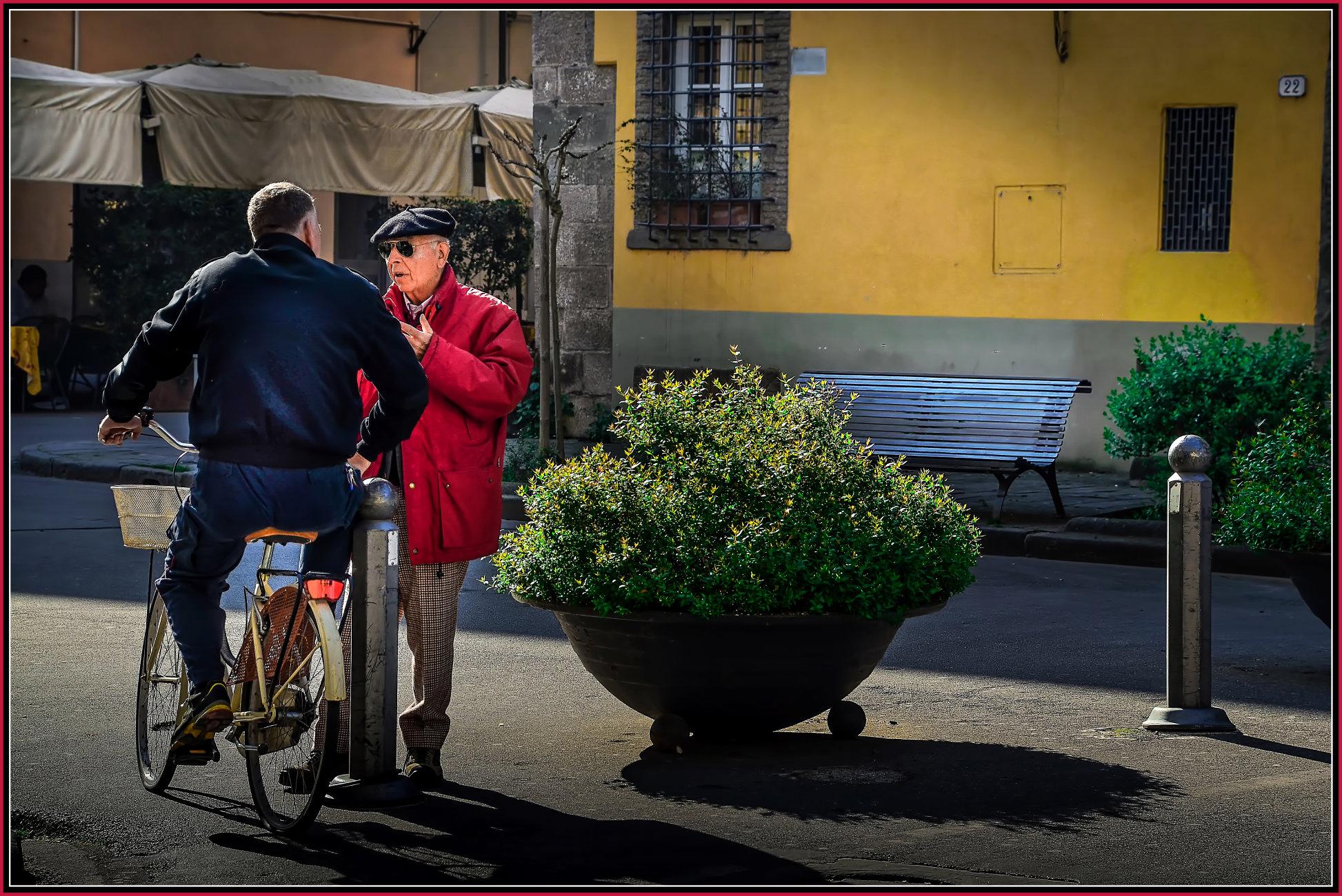 ''LUCCA ----- Street talk'' leading to ''Piazzale Boccherini'',