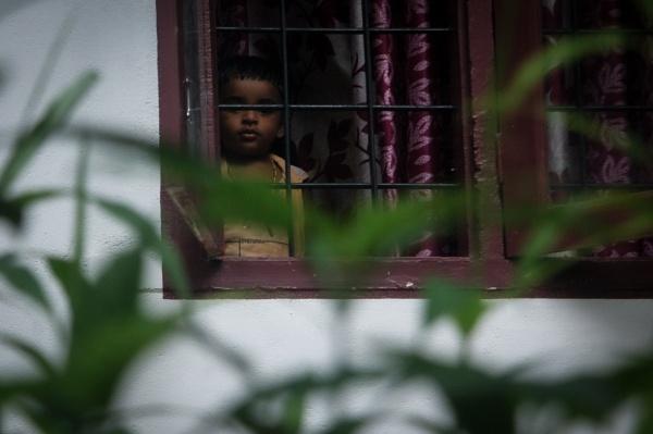 Waiting for the rain through the window door. by GokulRajendran234