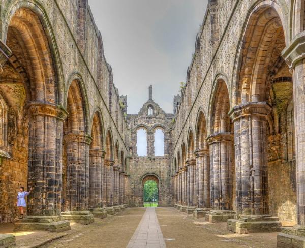 Kirkstall Abbey Cloisters by CarolF